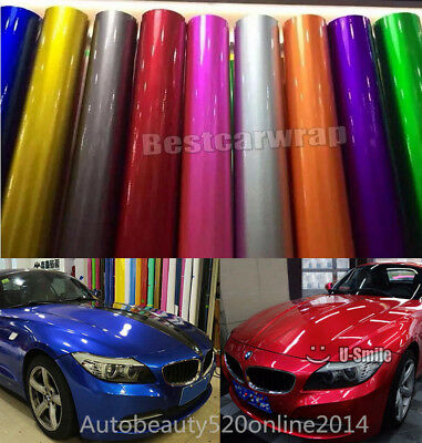 All Colors - Glossy Metallic Vinyl Wrap Car Film Foil Sticker Decal Bubble Free