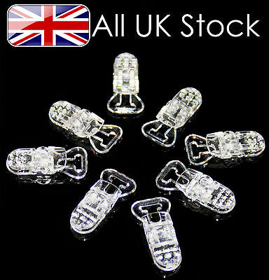 Plastic Dummy Clips Clear ~ Packs of 1, 5,10,20,25,50,100,200,300,400,500 & 1000