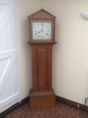 "Oak Grandfather Clock 72"" Requires Attention."