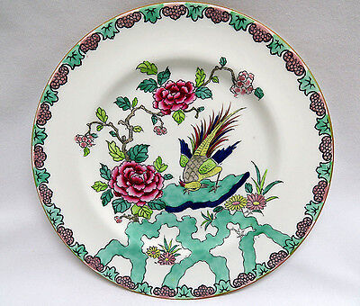 Crown Staffordshire England Bone China ROCK BIRD Salad Dessert Plate