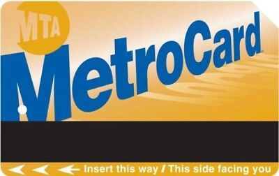30day Unlimited MTA Metrocard,$121 value Pass NYC Train Subway+ $3.48 extra fare