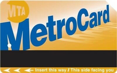 30-day Unlimited MTA Metrocard, $121 value Pass NYC Train Subway