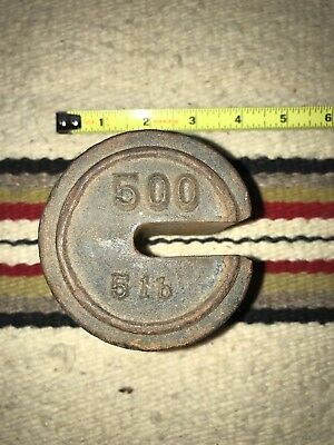 Vintage Fairbanks Barn Platform Scale Cast Iron 500 Lb. Weight Only