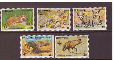 Botswana MNH 1977 Endangered Animals Nature  set mint stamps