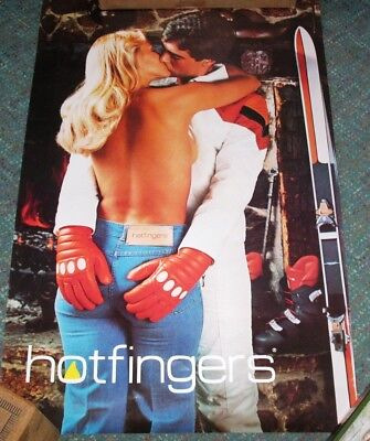 POSTER:ADVERTISING:  70's Iconic Hotfingers Glove Poster   - FREE SHIP