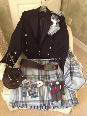 Lochassynt of Scotland KILT, JACKET & VEST -100% WOOL + accessories CHECK IT OUT