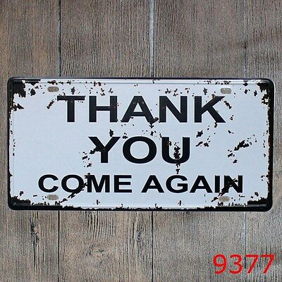 Metal Tin Sign thank you Decor Bar Pub Home Vintage Retro Poster Cafe ART
