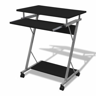 Computer Desk Pull Out Tray Furniture Office Student Table Black#