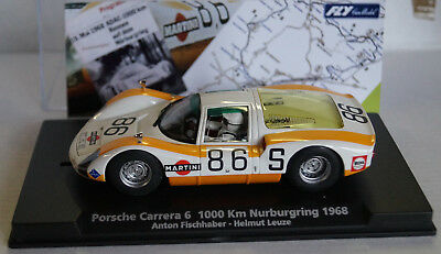 FLY Porsche Carrera 6 1000 km Nürburgring 1968 Fischhaber Leuze No 86 Neu in Box
