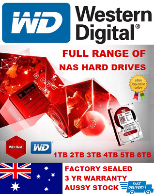 "Western Digital WD Red 1TB 2TB 3TB 4TB 6TB 8TB 3.5"" SATA Internal NAS Hard Drive"
