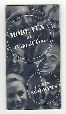 1935 Seagram's More Fun at Cocktail Time Booklet Color Insert