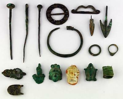 *sc* Lot Of Mixed Bronze Antiquitues, Egyptian To Islamic Periods!