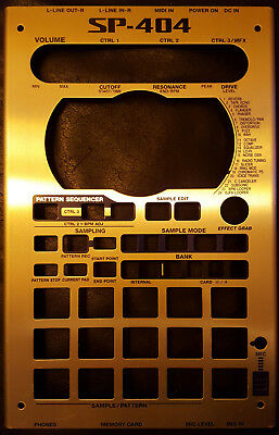Roland SP404 Sampler Faceplate - Original in Silber