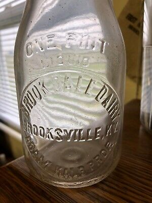 Brooksville, KY. Milk Bottle BROOK DALE DAIRY  ADAM KALB ONE PINT