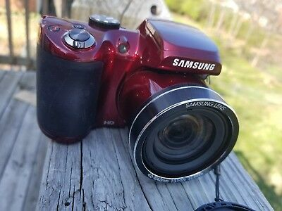 Samsung WB series WB110 20.2 MP Digital Camera - Red - No Issues
