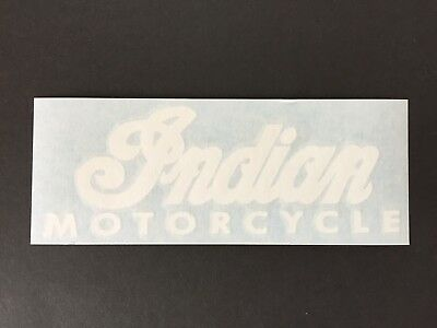 Indian Motorcycle Decal Sticker (white/black/gold)