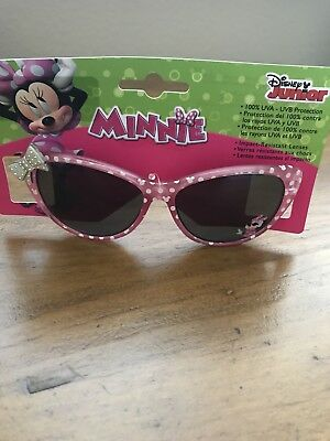 Kids Disney Junior Minnie Mouse Sunglasses 100% UVA And UVB Protection