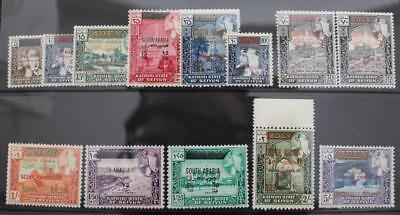 SOUTH ARABIAN FED 1966 Run of Overprint Values on Aden Stamps to 5s Fine MINT