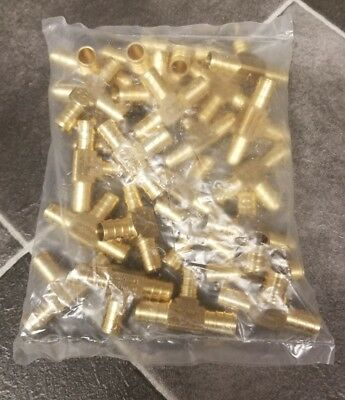 """25 -  1/2""""  PEX Brass Crimp On Tees Fittings  FAST FREE SHIPPING"""