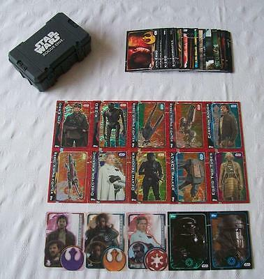 """""""Topps"""" Star Wars: Rouge One - Bundle of 65 Trading Cards + Collectors Case (B4)"""
