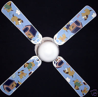 PLAYFUL PUPPIES CEILING FAN m/ SUMERSAULT