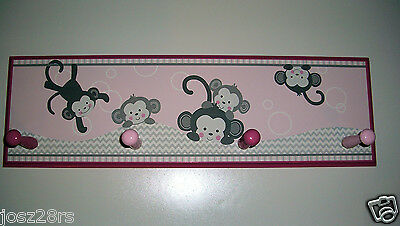 Pinkie Chevron Print with Circle and Monkeys Lambs & Ivy Bedtime Originals