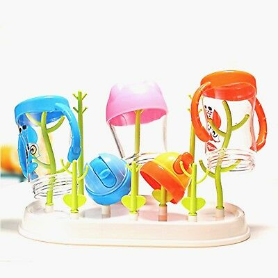 Baby Bottle Drying Rack Infant Toddler Feeding Bottle Cups Nipples Rack Holder