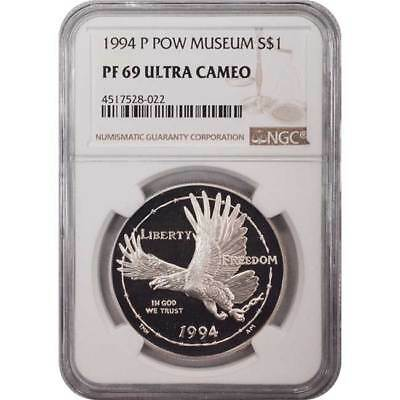 1994 P POW Museum NGC PF69 Commemorative Silver Dollar Coin