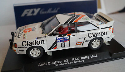 FLY Audi Quattro A2 RAC Rally 1985 Eklund Cederberg No 8 Neu in Box
