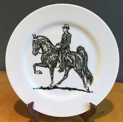 "Collector / Display Plate DRESSAGE RIDER & HORSE, 10-1/4"" PORCELAIN PLATE, USA"
