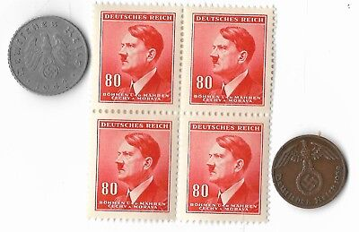 Rare Very Old WWII SS Nazi Germany Coin WW2 German Stamp European Collection Lot