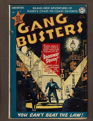 Gang Busters Dc Comics 1950 19 Vgf 5.0 Lone Wolf Of Crime Broadway Squad D.barry