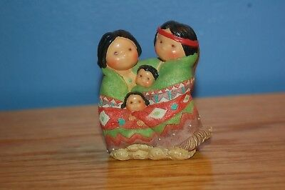 Vintage Friends of the Feather People of One Feather Indian Figurine Enesco 1994
