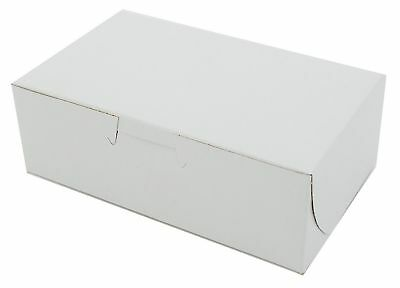 """6 1/4"""" x 3 3/4"""" x 2 1/8"""" Paperboard White MT Products Bakery Box - 30 Pieces"""