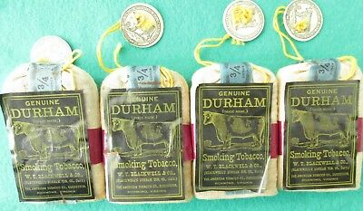 Vintage Durham Smoking Tobacco Pouch American Tobacco Co.  Lot Of 4 Pouchs