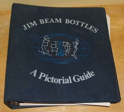 Vintage Jim Beam Bottles A Pictorial Guide 1982 Binder Book Decanter Collecting