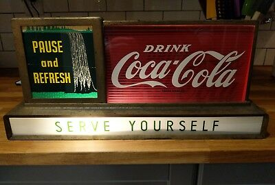 Coca Cola Waterfall Sign Antique