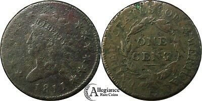 1811 1c Classic Head Large Cent TOUGH DATE from an old estate lot/collection