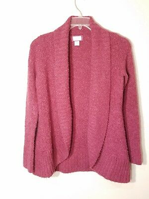 Motherhood Womens Sweater Open Front Burgundy Size Small