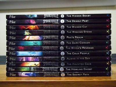 Lot of 12 Christopher Pike - SPOOKSVILLE Series 1 to 12 - The Hidden Beast