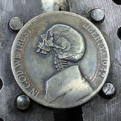 #171 Decayed Stargazer With Copper Inlay 1942P WWII Silver Nickel By JAM RM 1528