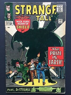 "Strange Tales # 137 October 1965 FN ""THE PRIZE IS EARTH!"""