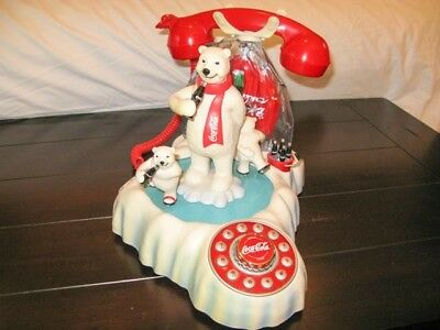 Coca Cola Animated Polar Bear Phone Telephone (Polyconcept USA, 2000) PRE-OWNED