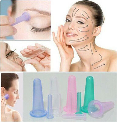 1/5Pcs Face Vacuum Silicone Massage Anti Cellulite Cupping Set Facial Eye Cup