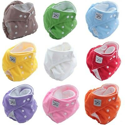 1PCS Baby Newbron Reusable Washable Cloth Diapers Fitted Nappy Adjustable Size