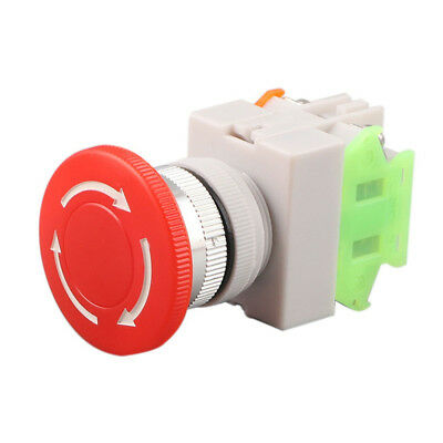 E-stop Self Lock Red Switch Equipment Emergency Stop Push Button Mushroom Cap
