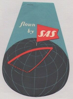 Original Sas Scandinavian Airlines System Airline Luggage Label