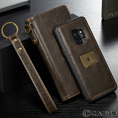 For Samsung Galaxy S9+ Plus Removable Leather Wallet Magnet Card Flip Cover Case