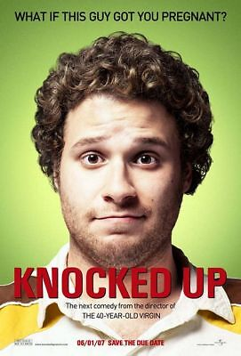 KNOCKED UP great original advance 27x40 D/S movie poster (s06)