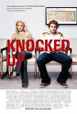 KNOCKED UP great original 27x40 D/S movie poster LAST ONE (s06)